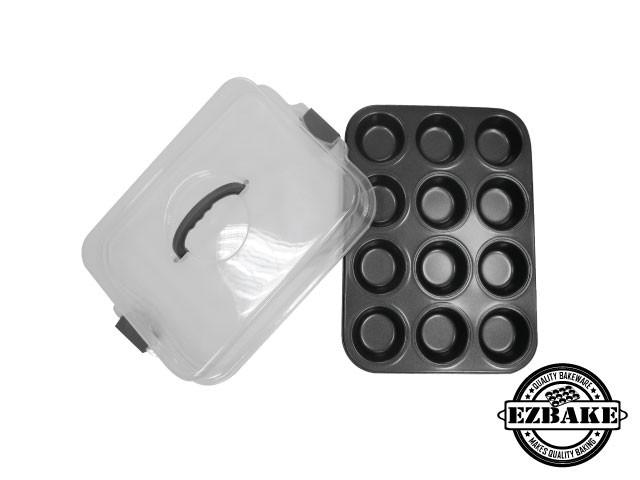 12杯杯型烤盤附提蓋  MUFFIN PAN12 CUPS/LID