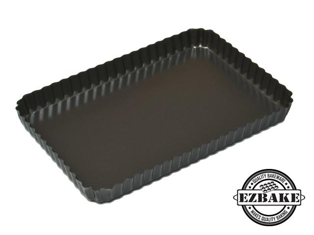 【NG福利品】花邊矩形蛋糕烤盤 FLUTED FLAN RECT LB 31*21*3 CM