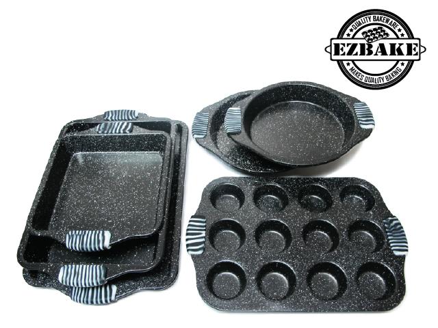 矽膠手柄烤盤6件組(6PC BAKEWARE SET)
